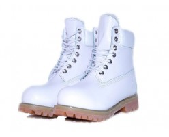 Timberland Leather white с мехом